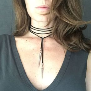 DIY: Leather neck tie